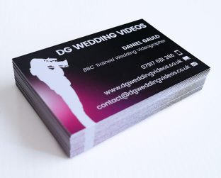 Wedding video business cards Stourbridge