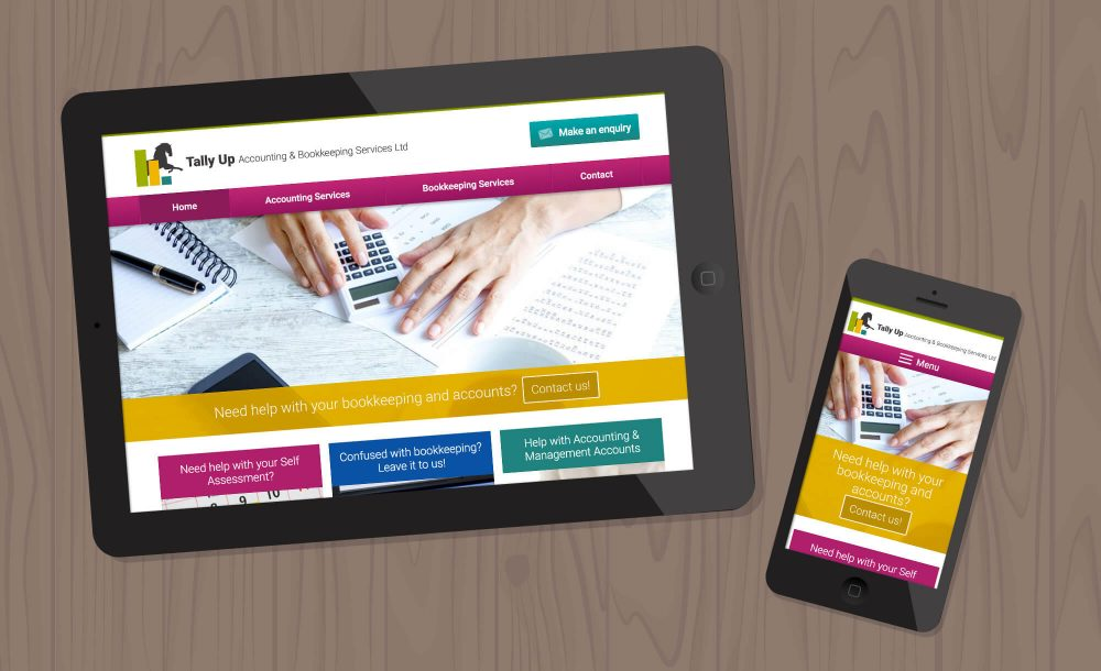 tallyup accountant website design Hagley