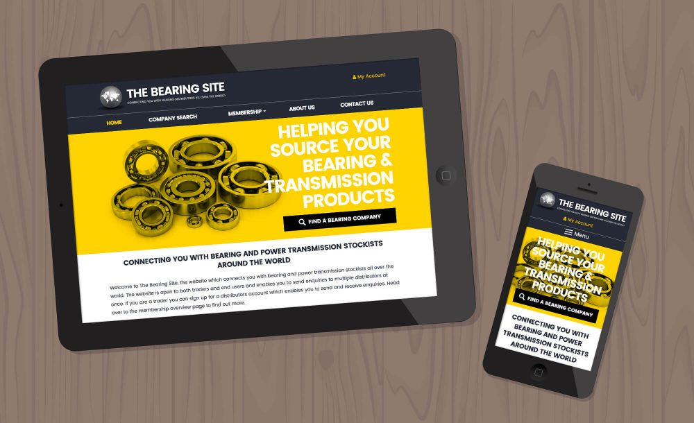 bearings website design west midlands