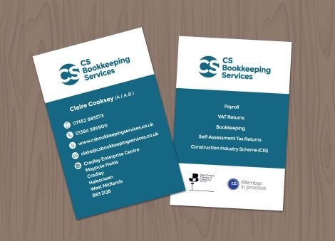 business cards bookkeeper Stourbridge