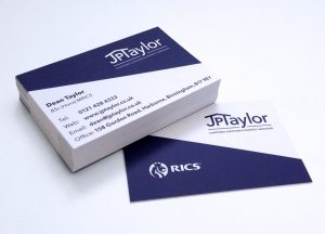 Business cards Harborne JPTaylor