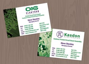 Clarydon Business card design willenhall