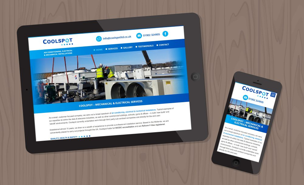 coolspot responsive website