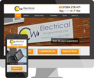 cwe electrical Kingswinford website