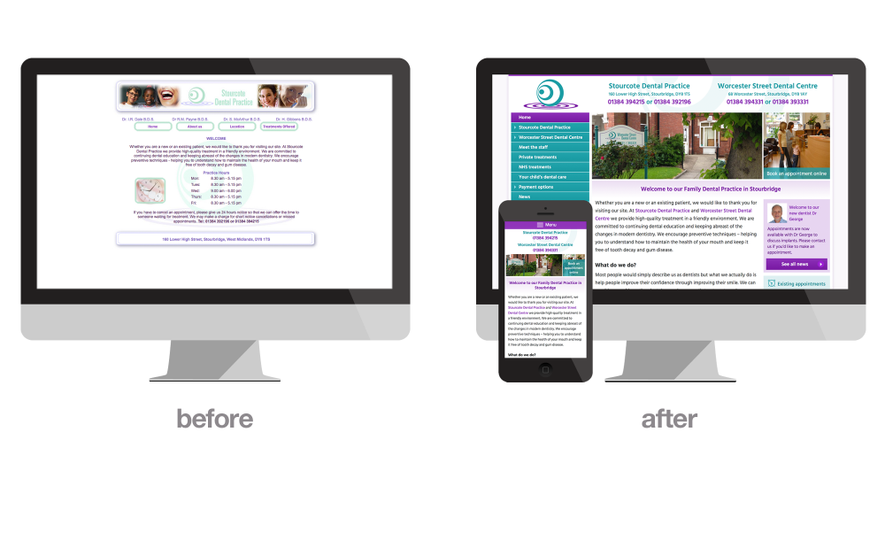 Stourbridge Dentist website redesign