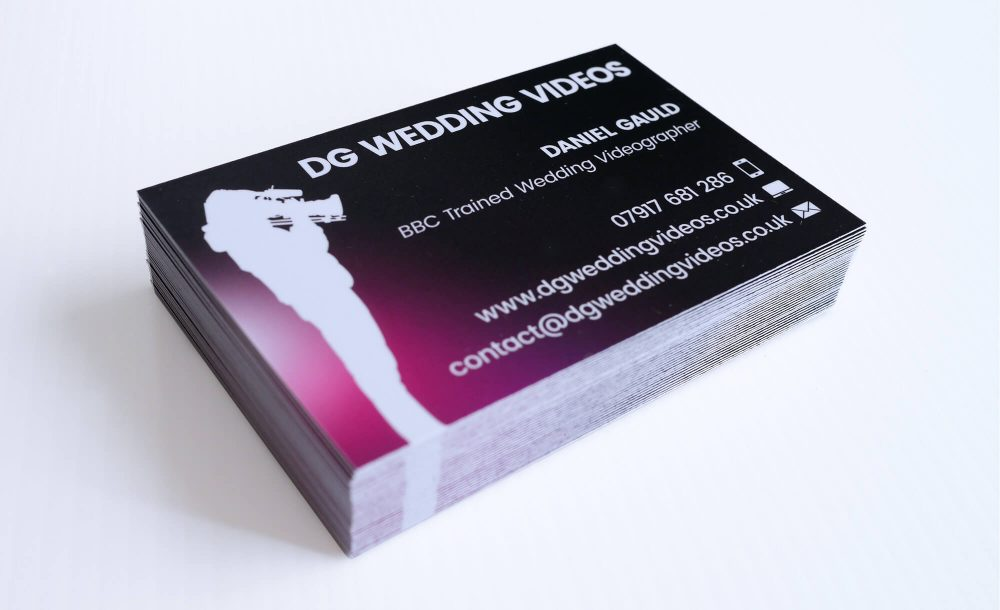 Dg wedding videos business cards design print getsited business cards reheart Images