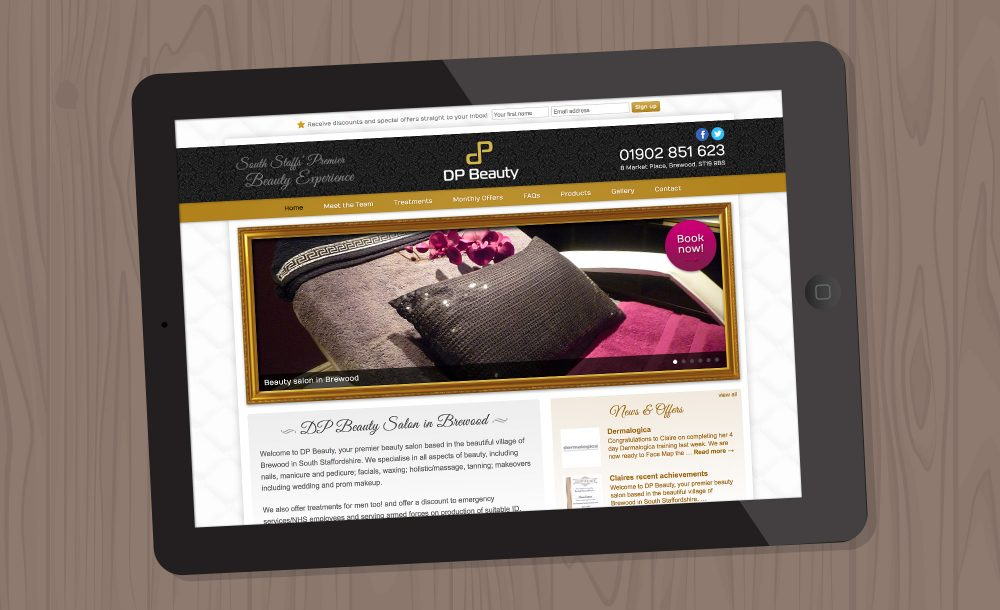 dp-beauty website design Breewood
