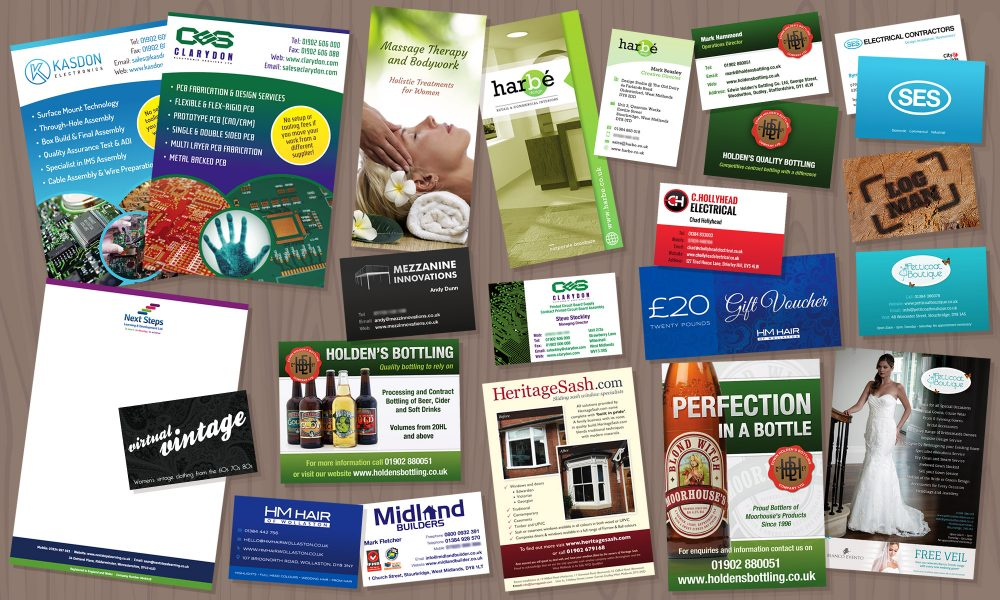 Design for Print: business cards, letterheads, leaflets