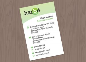 Harbe printed business cards Stourbridge