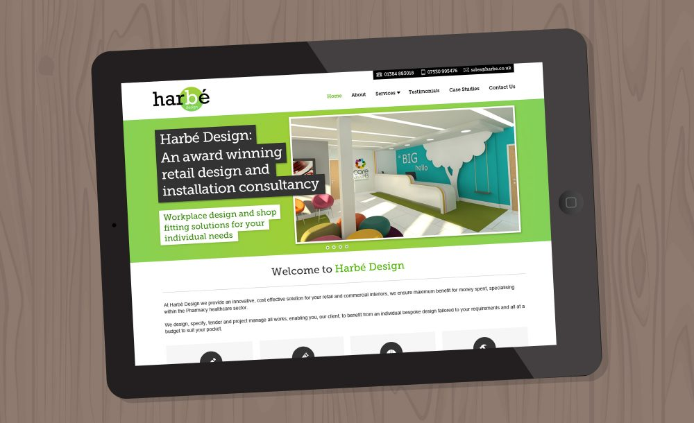 Harbe website design Stourbridge