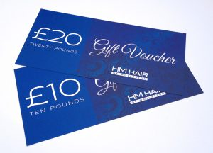HM Hair Wollaston gift voucher design