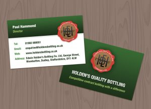 Holdens printed business cards Dudley