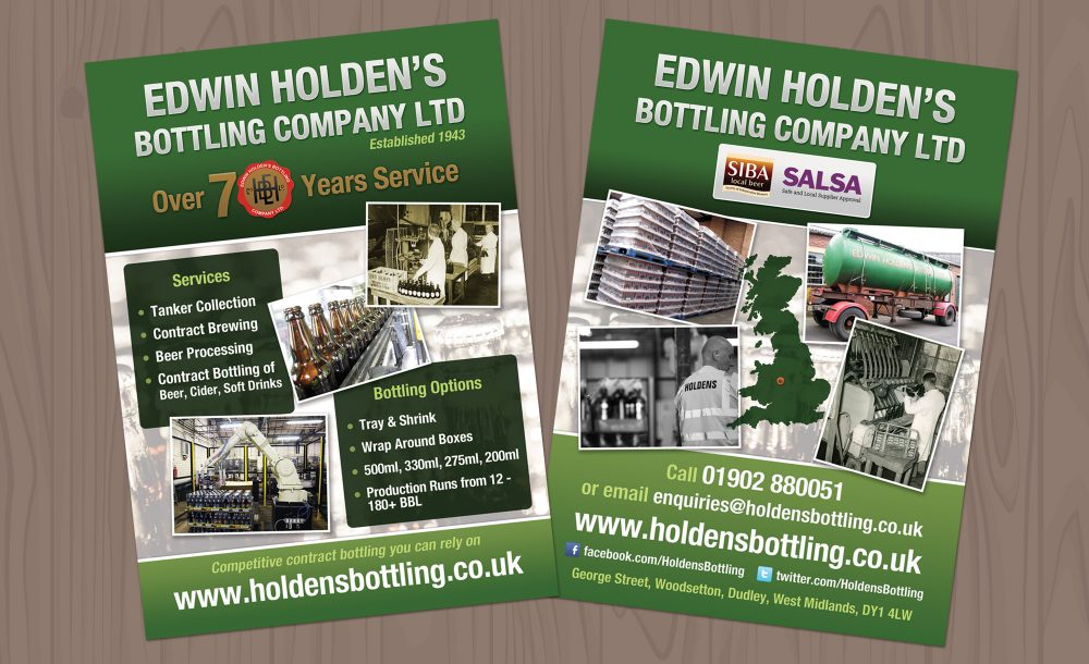 Holdens A5 printed flyers Dudley