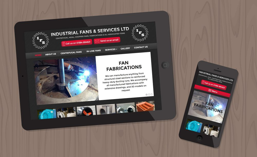Industrial Fans mobile website Lye