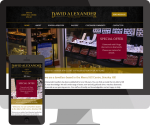jewellers website design Stourbridge