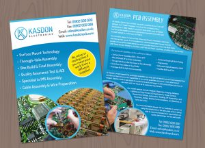 Kasdon A4 leaflet design and print