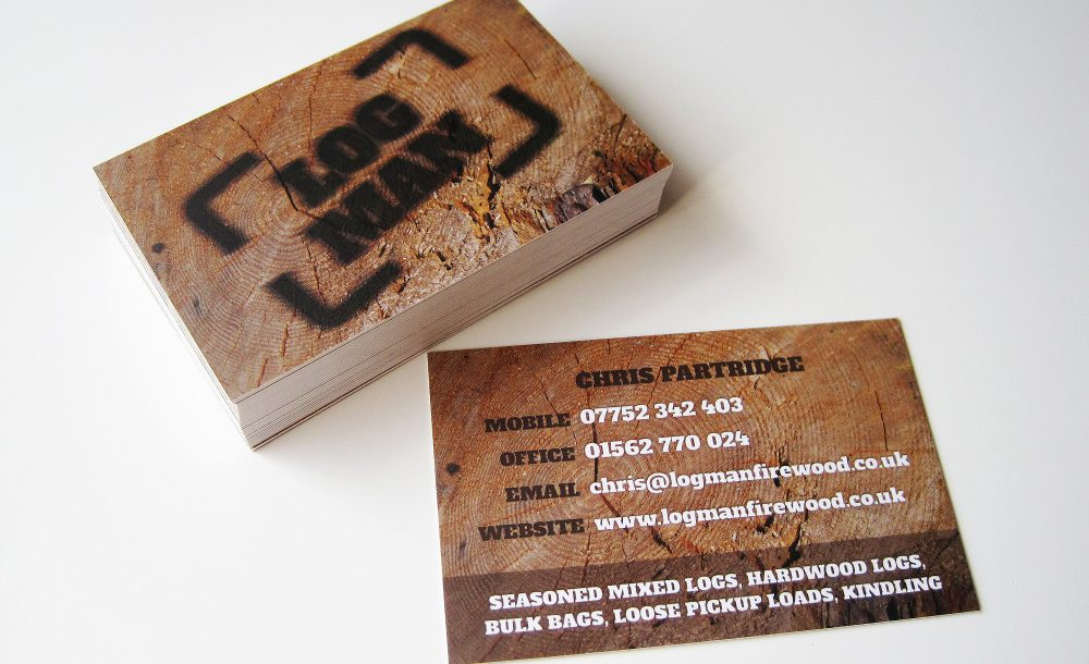 Log Man Business Cards Kidderminster