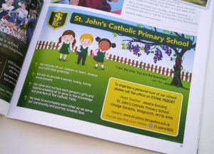 Magazine advert design St John's School