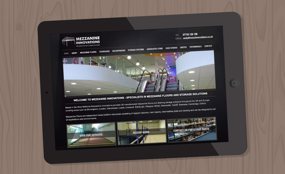 Mezzanine Innovations website West Midlands
