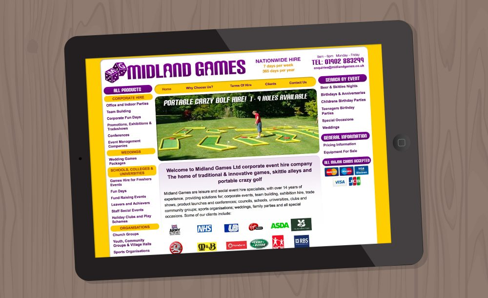 Midland Games website Gornal