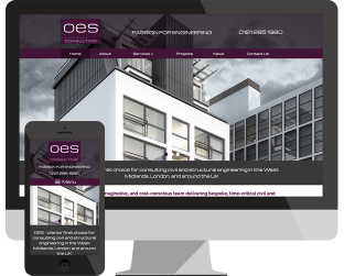 OES website design Dudley