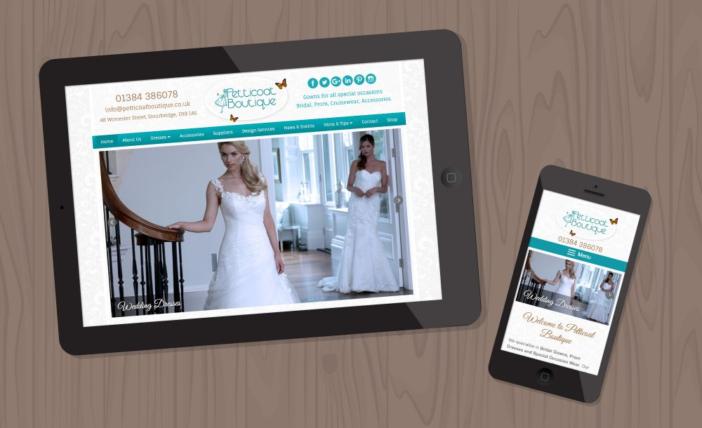 petticoat-boutique mobile website stourbridge