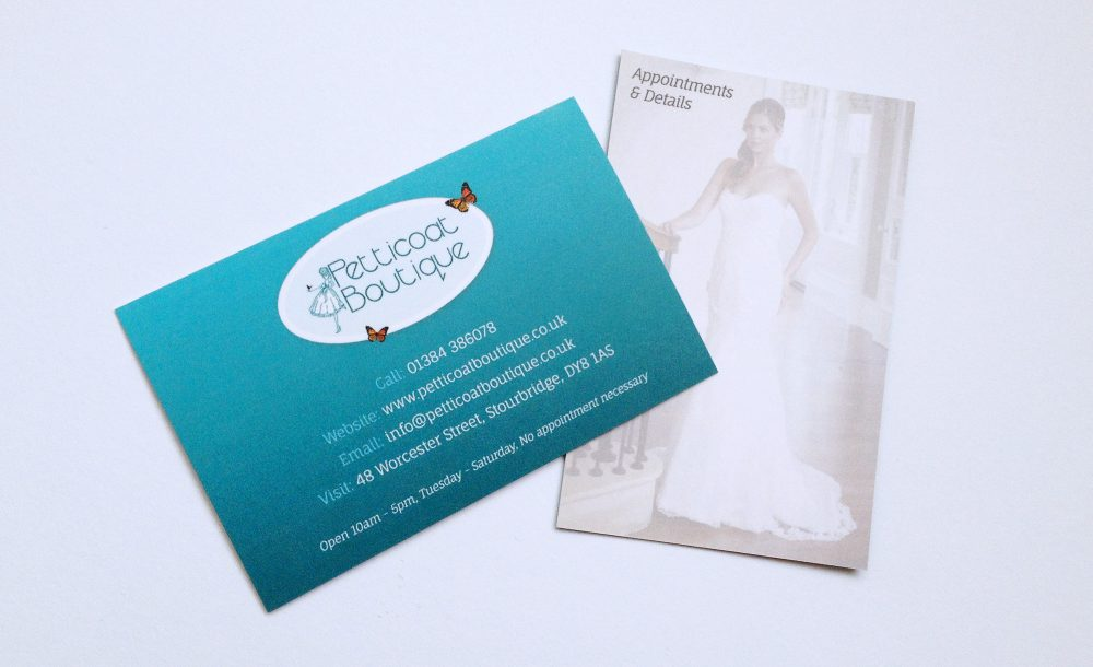 Petticoat Boutique Stourbridge Business Cards | GetSited