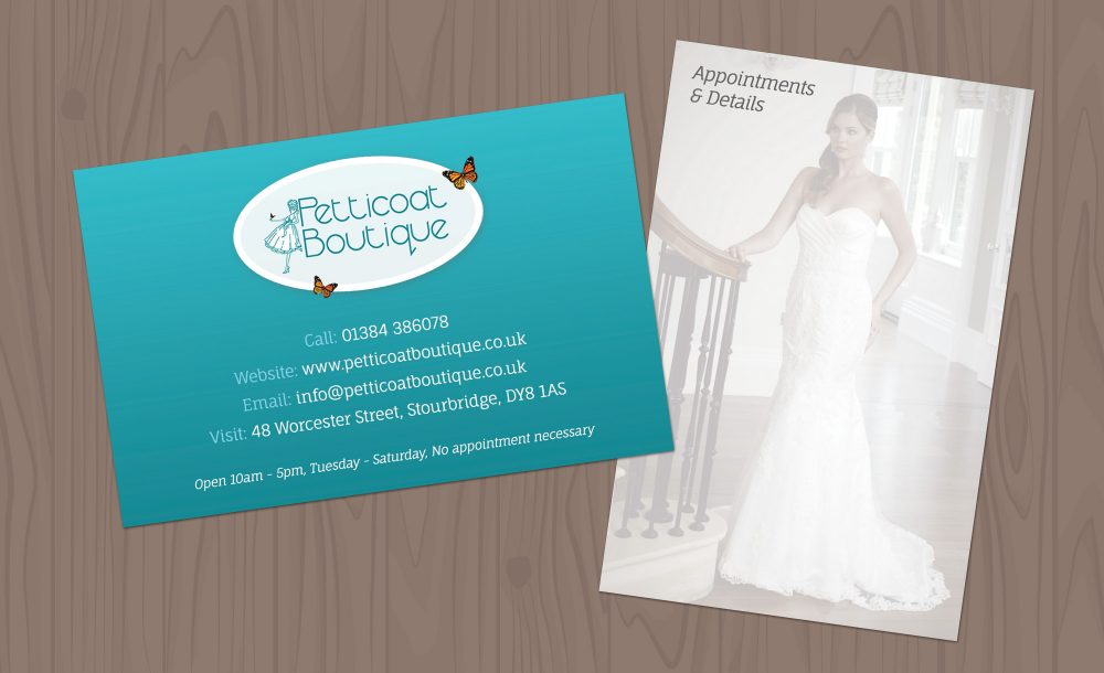 Petticoat boutique stourbridge business cards getsited petticoat boutique business card design and print reheart Choice Image