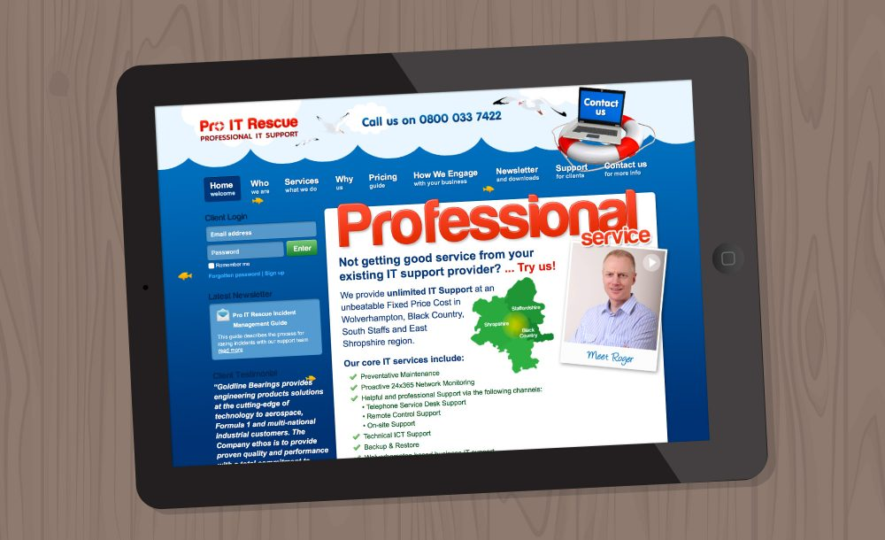 Pro IT support webdesign Wolverhampton