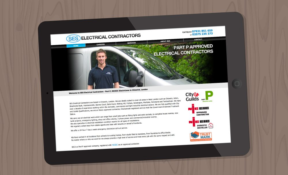 SES Electrician website
