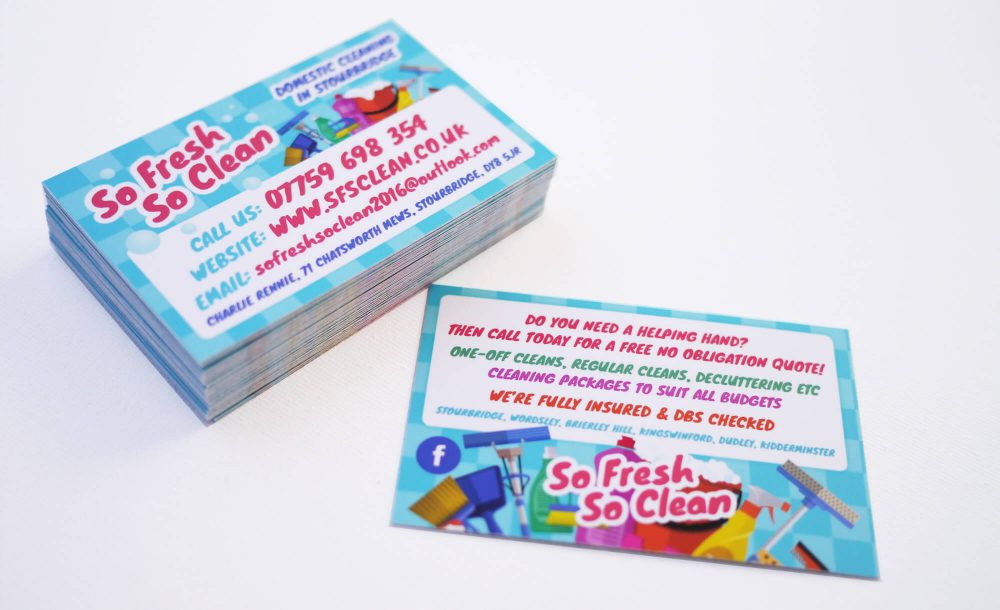 So Fresh So Clean Business Cards Design Print Stourbridge