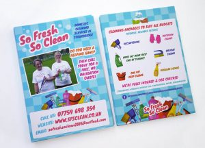 So Fresh So Clean leaflets design print Stourbridge