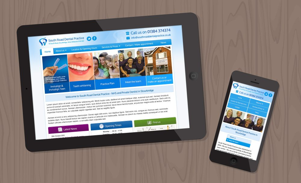 South Road Dentist website Stourbridge
