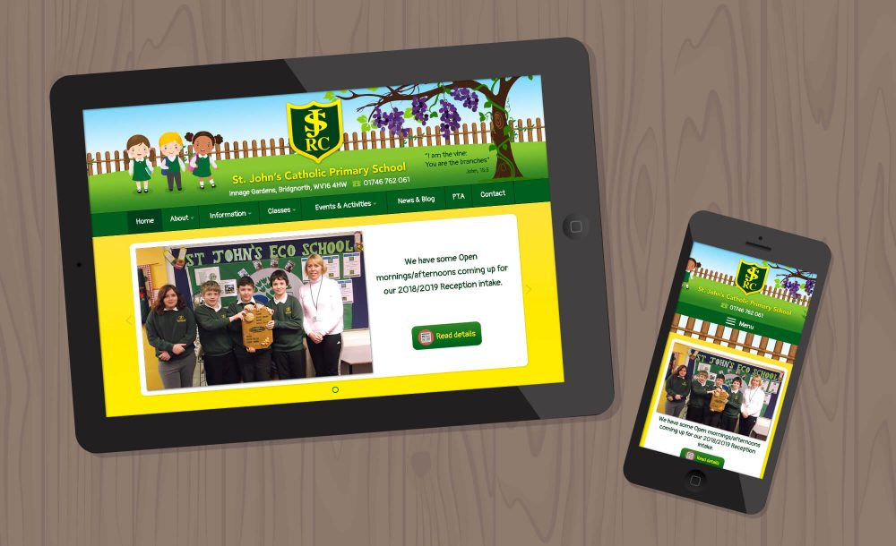 Primary School website Shropshire