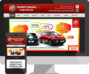Summit Garage Dudley web design