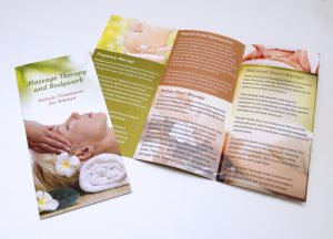 Trifold leaflet design and print