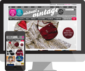 Virtual Vintage eCommerce website