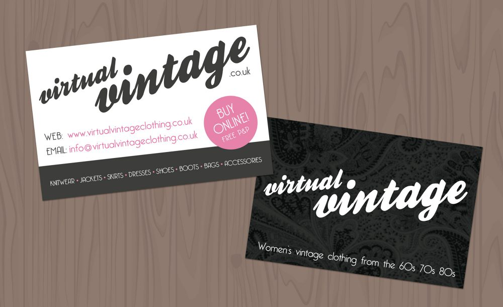 Virtual vintage business cards getsited business cards reheart Image collections