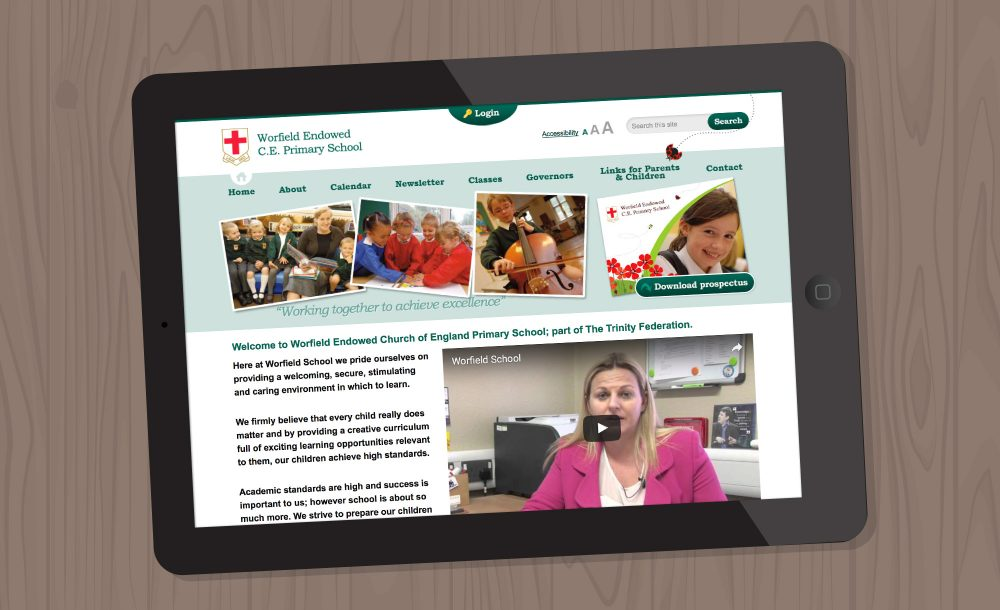 Worfield school web design Shropshire